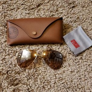 Genuine Ray Ban Aviators Gold. Well Loved